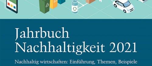 Titel des Jahrbuchs Nachhaltigkeit 2021, Altreifen Recycling, Gummi-Recycling und Kreislaufwirtschaft